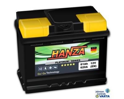 Hanza Platinum (6 CT-61) 61Ah-620Aen R+ (h-175) - фото 1
