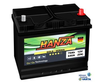 Hanza Gold Jis (6 CT-70) 70Ah-640Aen R+ - фото 1