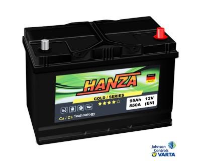 Hanza Gold Jis (6 CT-95) 95Ah-850Aen R+ - фото 1
