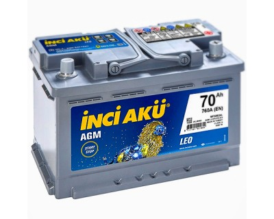 INCI AKU AGM START-STOP 6 CT-70AH-760A(EN) (0) R+ - фото 1