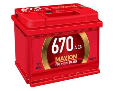 Maxion Premium Plus 6 CT-60Ah-670Aen h-175 (0) R+ - фото 1
