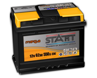 Mega Start Monbat 562 078 055  62Ah-550Aen R+ - фото 1