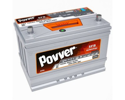 Povver 115D31FL (N70) 6 CT-100Ah-900A (SAE) R+ (0) - фото 1