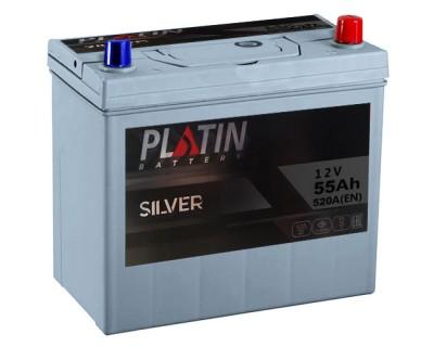 Platin Silver SMF 75B24L 6CT-55Ah-520Aen (0) R+ - фото 1