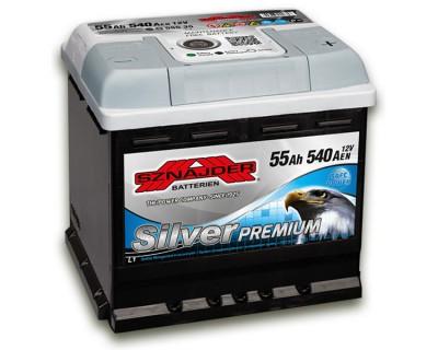 Sznajder Silver Premium (6 CT-55) 55Ah-540Aen R+ - фото 1