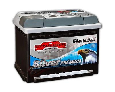 Sznajder Silver Premium (6 CT-64) 64Ah-600Aen R+ (h-175) - фото 1
