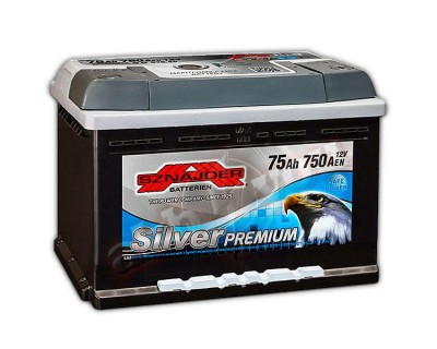 Sznajder Silver Premium (6 CT-75) 75Ah-750Aen R+ (h-175) - фото 1