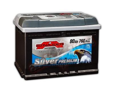 Sznajder Silver Premium (6 CT-80) 80Ah-760Aen R+ - фото 1