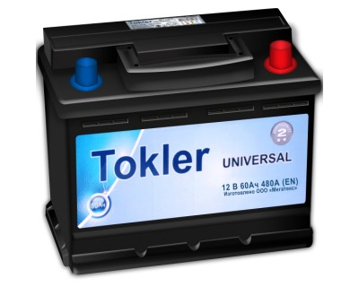 Tokler Universal (6 CT-60) 60Ah-480Aen R+ - фото 1