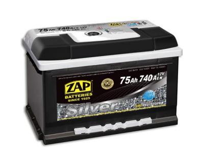 ZAP Silver 6 CT-75Ah-740Aen (0) R+ (h-175) - фото 1