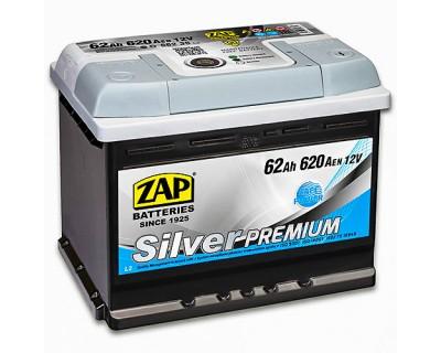 ZAP Silver Premium 6 CT-62Ah-620Aen (0) R+ - фото 1