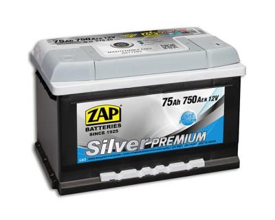 ZAP Silver Premium 6 CT-75Ah-750Aen (0) R+ (h-175) - фото 1