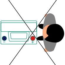 Неправильно определить полярность аккумулятора 1