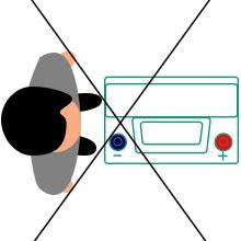 Неправильно определить полярность аккумулятора 3