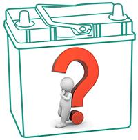 Как определить полярность аккумулятора?
